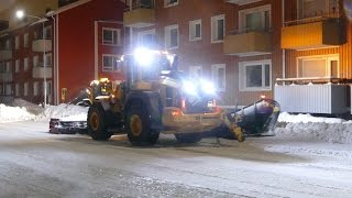 Snow Clearing With Volvo L110H,L90C,JCB426E And Ljungby L15