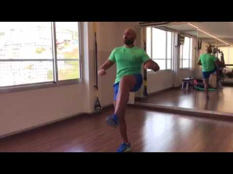 Core workout with coach Sarkis Voskorian