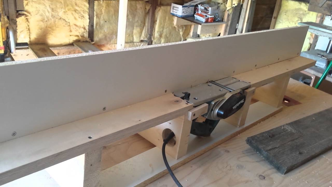 Makita Bench Top Planer Jig Youtube