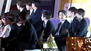 141221 EXO reaction to Ailee 'Problem' in SBS Gayo Daejun