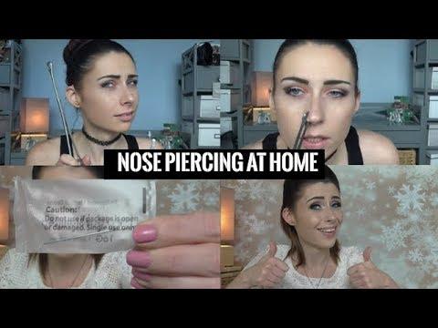 DIY Nose Piercing at home / I pierced my nose myself