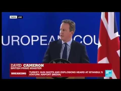 D Camerons Speech @ Brussels EU Leaders Meeting 28-06-16