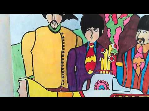 My Beatles drawing from the yellow submarine film.