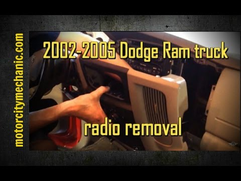 2002-2005 Dodge Ram truck radio removal - YouTube