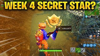 Week 4 SECRET Battle Star LOCATION from Loading Screen in Fortnite Season 6 (Fortnite Battle Royale)