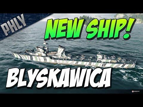 World Of Warships NEW -  THE POLISH LIGHTNING - Błyskawica, Tier VII Polish Destroyer