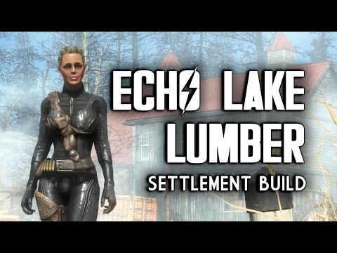 Echo Lake Lumber Mill Efficiency Settlement Build - Fallout 4 Far Harbor