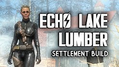 Echo Lake Lumber Mill Efficiency Settlement Build - Fallout 4 Far Harbor