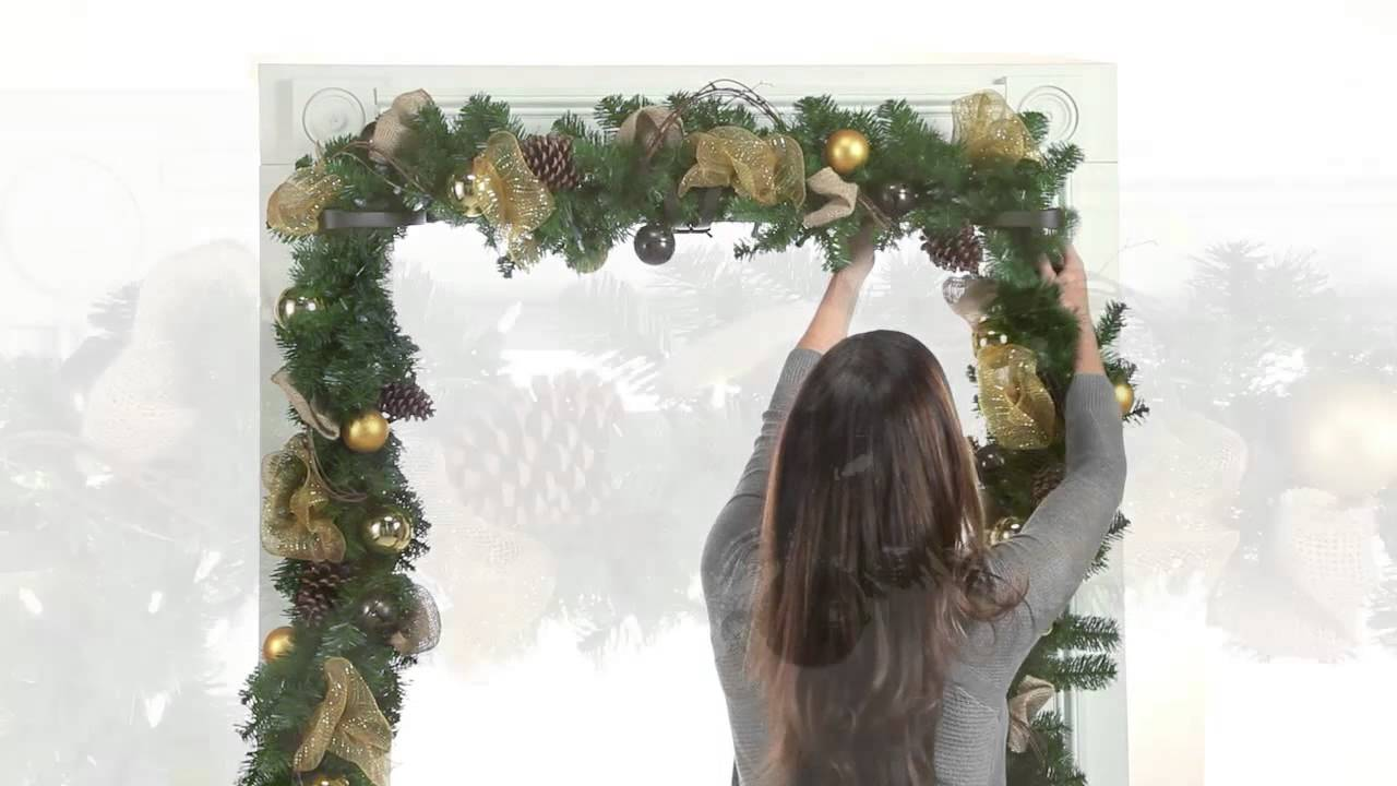 Christmas Garland Mantle