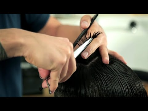 Barber School - Basic Scissor Cutting - Short Messy Haircut - For Beginners (Nomad Barber)