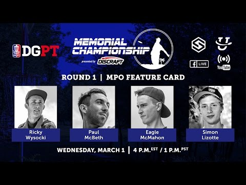 Pro Tour: Memorial Championship presented by Discraft - Round 1 LIVE