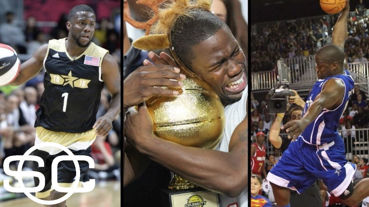 Greatest Nba All Star Celebrity Game Moments Kevin Hart To S Big Dunk More Sportscenter Espn Youtube