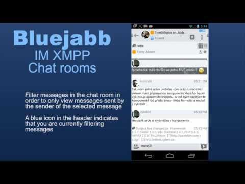 Bluejabb IM XMPP. For Power Users Only. The Chat Rooms