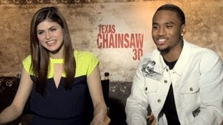 Alexandra Daddario & Trey Songz Interview - Texas Chainsaw 3D (HD)