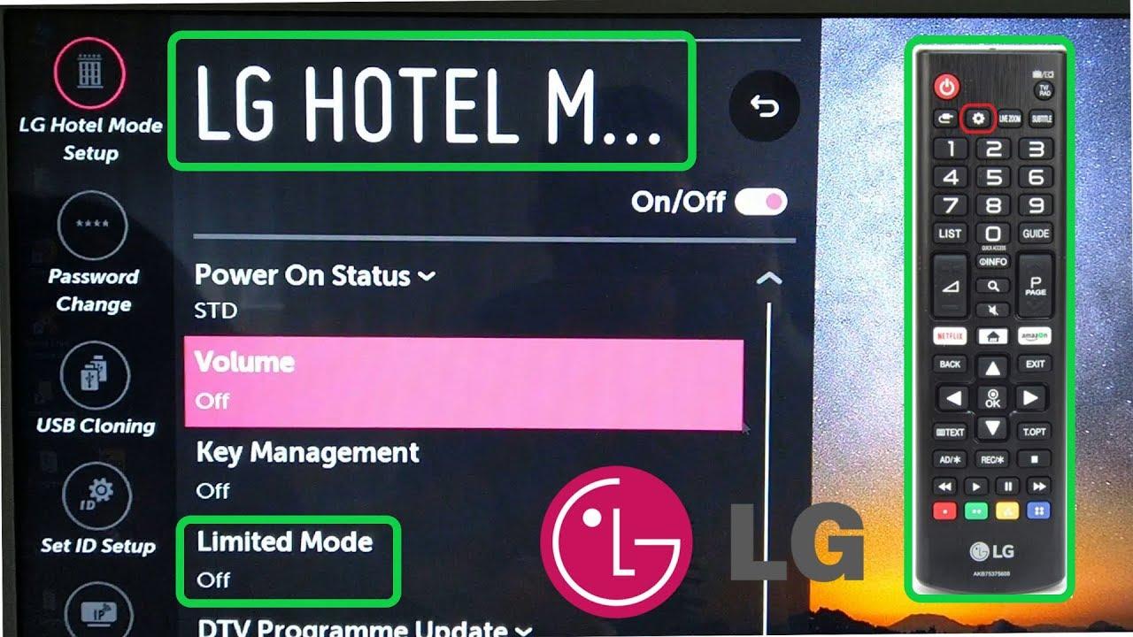 LG Smart TV Hotel Mode 2019 Limited Mode Settings