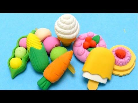 Ice Cream Cones Eraser & Vegetables - Kawaii Erasers for School