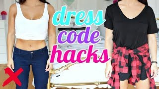 How to Get AWAY with Breaking the DRESS CODE | Clothing Hacks EVERY Girl Must Know !!