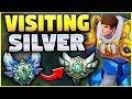 DIAMOND PLAYER VISITS SILVER FOR THE FIRST TIME! DIAMOND PLAYING IN SILVER!  - League of Legends