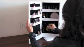 Interiorme - Double Sided Vanity & Jewellery Rotating Table Top Cabinet