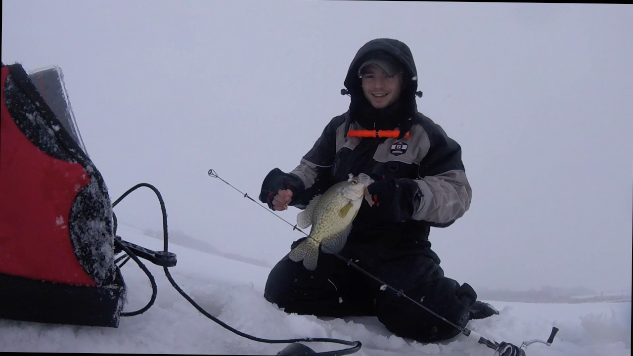 Marcum lx6s crappie fishing youtube for Marcum ice fishing
