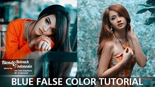 Blend And Retouch Blue False Colors Tutorial Photoshop