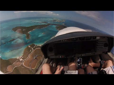 Flying a DA40 to Bahamas, Island Hopping (HD, GOPRO)
