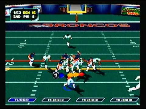 NFL Blitz 2000 - Denver Broncos vs Philadelphia Eagles (1st Half)
