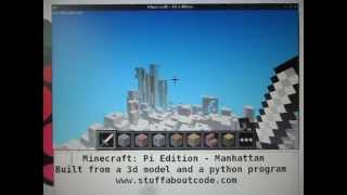 Minecraft: Pi Edition - New York, Manhattan