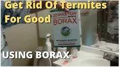 How To Get Rid Of Termites For Good  Using  Borax -- Best Solution Do It Yourself