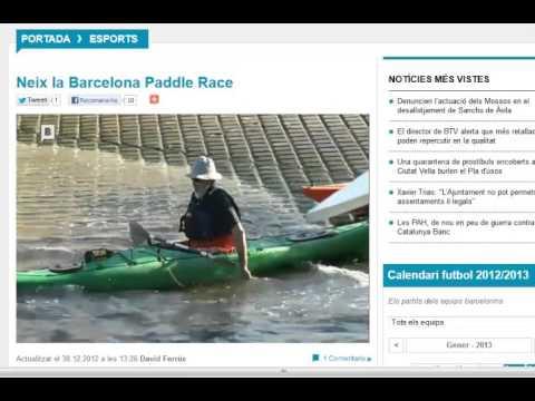 Barcelona Television  BTV Barcelona  Paddle Race
