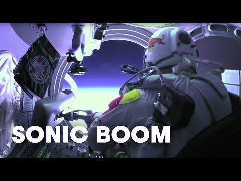 Felix Baumgartner's sonic boom captured from the ground