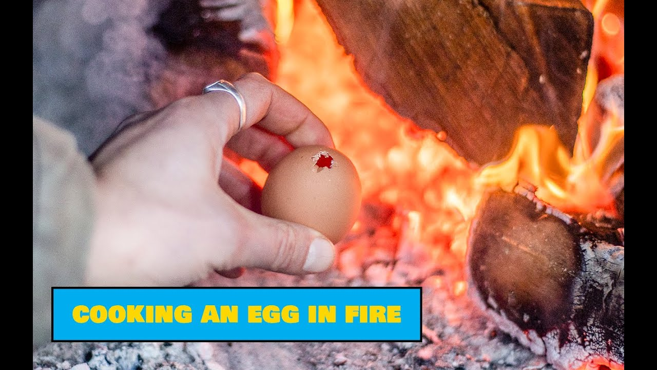 Cooking an Egg in a Fire / Muna küpsetamine lõkkes - Easy Outdoors Cooking