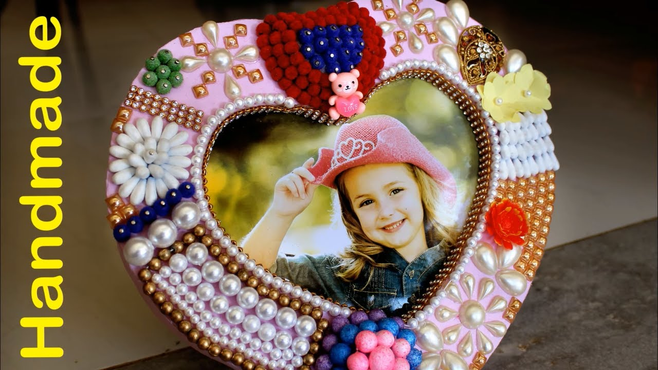 Best Out Of Waste Handmade Heart Photo Frame Diy Home