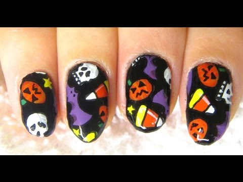 easy-diy-fun-halloween-party-nail-art-sticker-tutorial