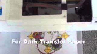 DIY T-shirt by Dark/Light Inkjet Transfer Paper by Cutting Plotter Heat Press
