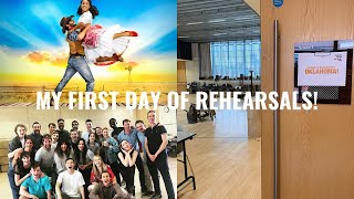 MY FIRST DAY OF REHEARSALS FOR OKLAHOMA! | VLOG | Georgie Ashford