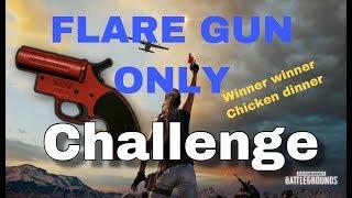 FLARE GUN only challenge PUBG