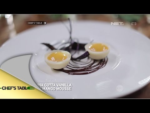 Chef's Table - Christiani dan Christie Julia - Panna Cotta Vanilla with Mango Mousse