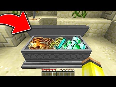 MUMYA'NIN MEZARINDA HAZİNE BULDUM! 😱 - Minecraft thumbnail