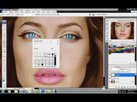 PINTAR OJOS Y LABIOS CON PHOTOSHOP CS3   YouTube