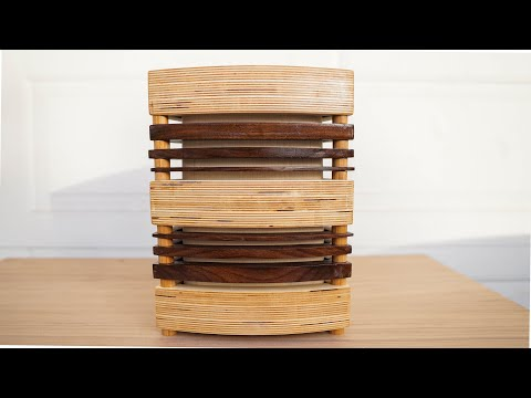 Watch Me Build This Retro-Modern Table Lamp Out Of Scraps