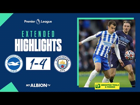 Extended PL Highlights: Albion 1 Man City 4