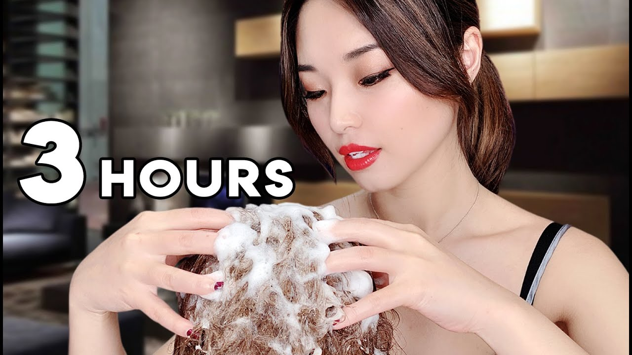 [ASMR] Sleep Recovery ~ 3 Hours of Relaxing Hair Washing