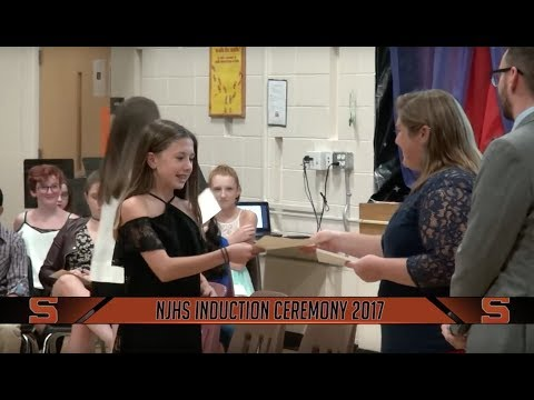 O'Donnell Middle School National Junior Honor Society Induction (2017-2018 School Year)