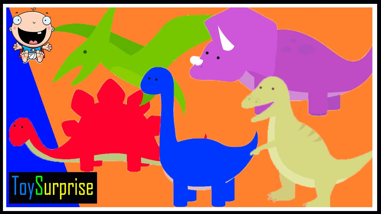 Dinosaurios te enseñan los colores. En español para niños de ...