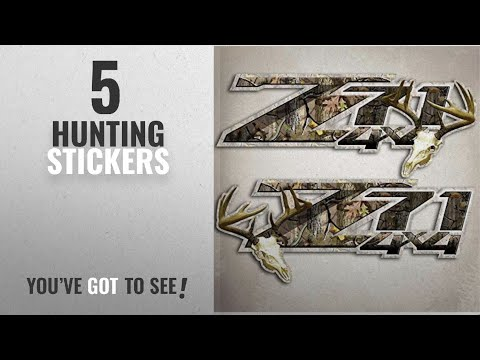 Top 10 Hunting Stickers [2018]: Z71 Deer Hunting 4x4 Silverado Truck Camo Stickers