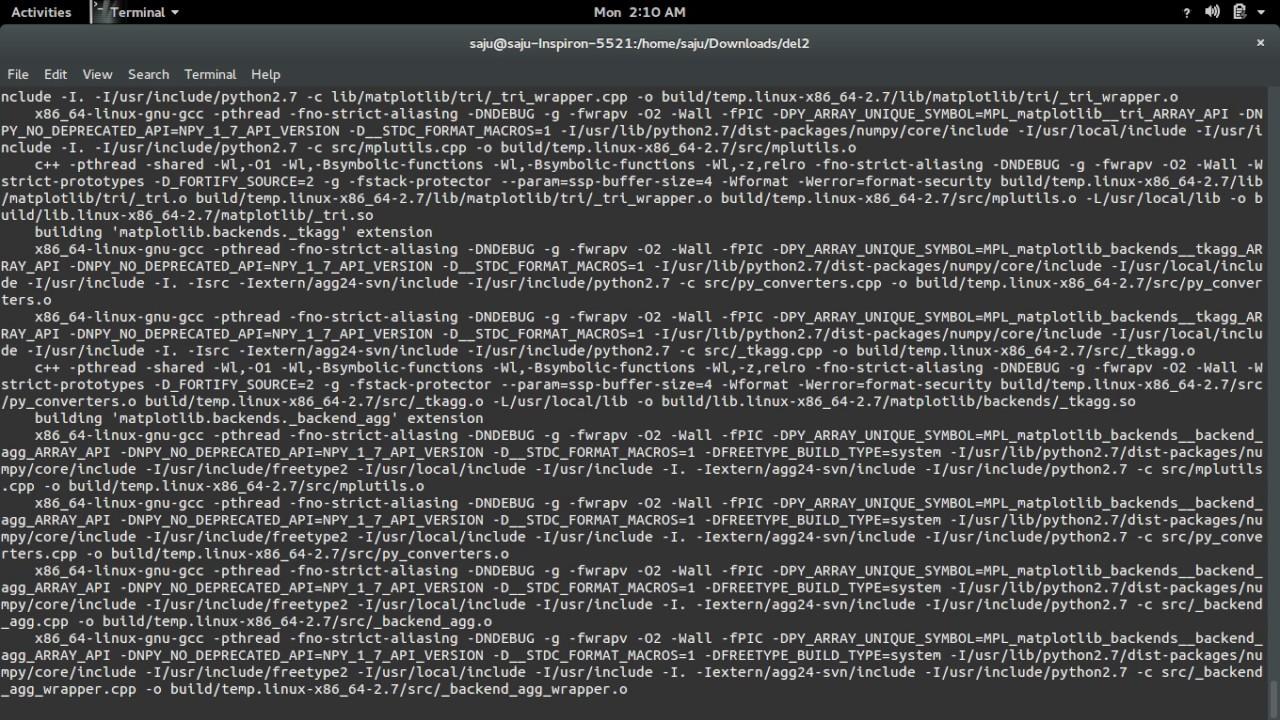 python ImportError: No module named matplotlib