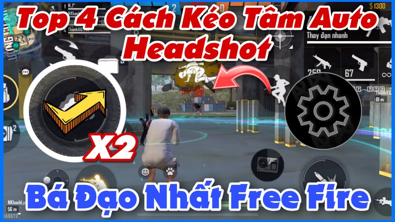 (Free Fire) Top 4 Cách Kéo Tâm Headshot Được Anh Em Game Thủ Sử Dụng Nhiều Nhất | Huy Gaming
