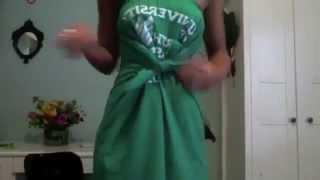 как сделать из рубашки платье видео
