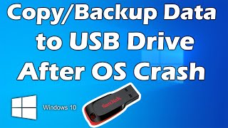 Data Recovery to USB after windows is Crashed